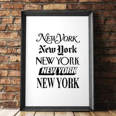 New York New York http://www.amazon.com/dp/B016FFOLXU motivational poster word art print black white inspirational quote motivationmonday quote of the day motivated type swiss wisdom happy fitspo inspirational quote