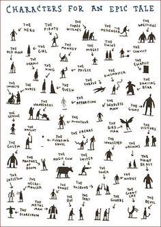 Pick a handfull of characters from this handy chart, and you'll be off and writing your own epic tale! Great for early finishers...love.