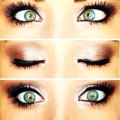 Green eye makeup! Rosy toned neutrals look great for green eyes! The Best Step By Step Tutorial and Ideas For Green Eyes For Fall, Winter, Spring, and Summer.  Everything From Natural To Smokey To Everyday Looks, These Pins Have Dramatic Daytime, Formal, Prom, Wedding, and Over 40 Looks You Can Do That Are Simple, Quick And Easy.  How To Do These Are Included.