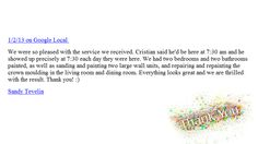 Want to read more reviews?  Please check out our website at www.WilliamsProfessionalPainting.com