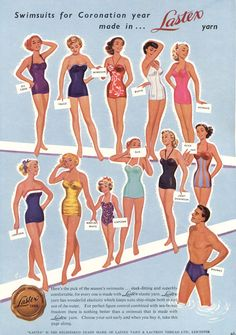 LASTEX vintage advertisement / Shopping Magazine June 1953