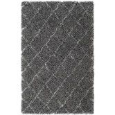 Found it at Wayfair - Moroccan Shag Grey & Ivory Geometric Contemporary Rug