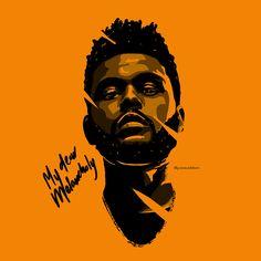 The Weeknd - My Dear Melancholy Illustration by Gerard Addison