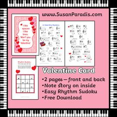Valentines Card I have a Valentine card treat for you today that you can give to your students next week! This card will be the size of a half a sheet of computer paper when you print it and fold i...