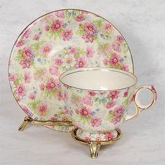 "Royal Winton ""Shrewsbury"" Chintz Teacup Saucer | eBay"