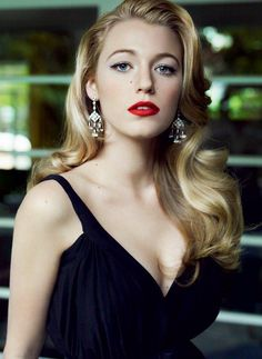 Classic beauty look on Blake Lively