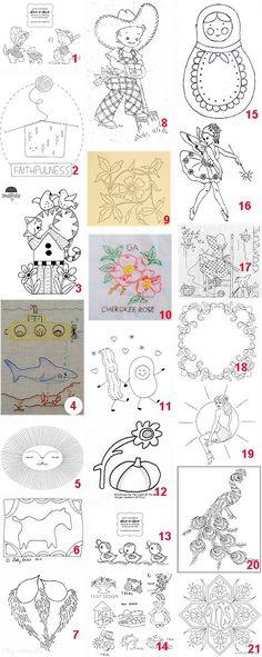 Free patterns: Hand embroidery · Needlework News | CraftGossip.com