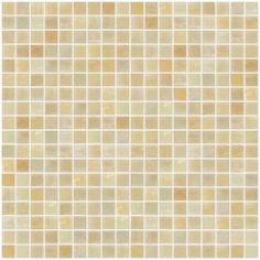 5/8 Inch Almond Brown Iridescent Glass Tile