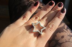 silver STAR ring by AINAjoies on Etsy $78.73