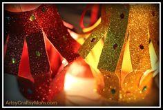 DIY Glitter Paper Table Lanterns - Artsy Craftsy Mom