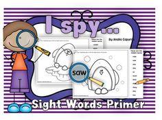 FREE I spy..Sight Words Primer list