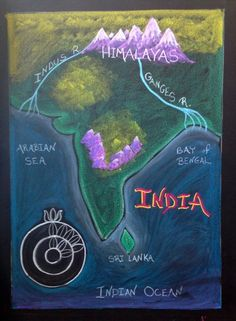 India board drawing for class 5( india continent)