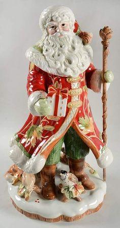 Fitz & Floyd BOUNTIFUL HOLIDAY Santa Claus Figurine 9436414 #FitzFloyd