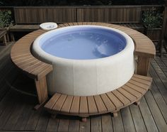 Adding a hot tub to your home can be a great choice - but also a big one, as it typically stays wherever you first decide to put it. The Softub Moveable Hot Tub gets around this problem with a. Hot Tub Backyard, Hot Tub Garden, Diy Garden, Garden Ideas, Backyard Pools, Pool Decks, Pool Landscaping, Patio Ideas, Inflatable Hot Tub Reviews