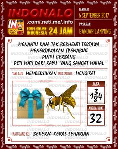 Sah 2D Togel Wap Online Indonalo Bandar Lampung 6 September 2017