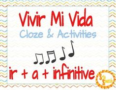 "Cloze activity to go with ""Vivir Mi Vida"" by Marc Anthony (free on Youtube!). Students listen to the song and fill in the missing words. Then, students complete practice activities identifying grammatical targets where they hear it in the song, and write sentences of their own using song lyrics and structures."