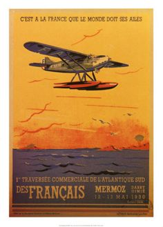 Vintage aviation posters on Allposters.com. Must do for home decor adventure coming up.