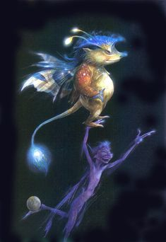 friendship faeries by Brian Froud I have the top guy on my leg