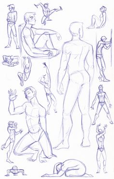 Figure Study Sketches (Male) by kuabci on deviantART