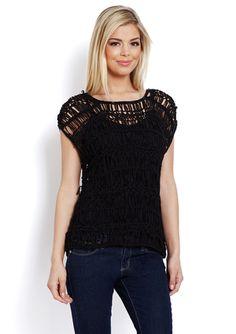 SMITTEN Open Weave Sweater