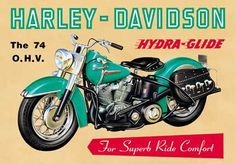 I have been collecting Vintage Harley posters and here are the best! Harley Davidson Vintage, Harley Davidson Posters, Vintage Advertising Posters, Old Advertisements, Vintage Posters, Retro Posters, Motos Vintage, Vintage Ads, Vintage Metal