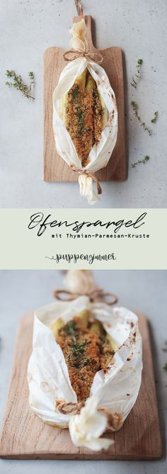 Ofenspargel mit Thymian-Parmesan-Kruste #spargel