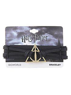 Harry Potter Deathly Hallows Snap Bracelet,