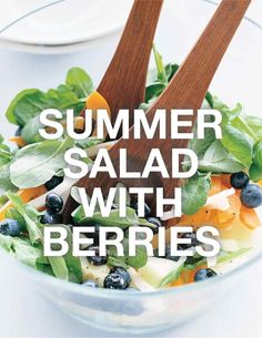 Summer Salad with Berries   Martha Stewart Living - The subtle sweetness of blueberries is an unexpected addition to a salad of peppery arugula.