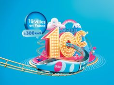 Nikopicto is a creative animation studio, specialized in illustration, animation and character design. France National, 3d Cinema, 3d Poster, Identity, Ville France, 3d Typography, Lettering, Promotional Design, Photoshop