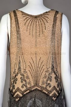 Beaded dress, American, ca. 1927  Silk chiffon, beads  Collection of the Kent State University Museum, KSUM 1983.1.383