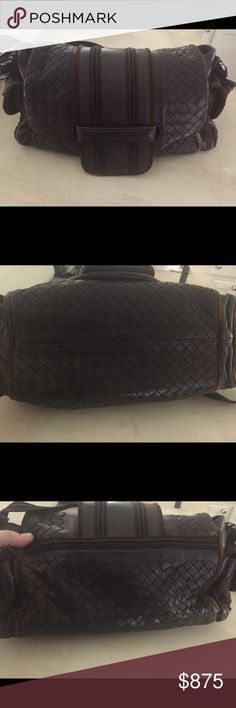 "AUTH Bottega Veneta Brown Leather Shoulder Bag Authentic Bottega Veneta brown leather shoulder bag with velvet piping.  Two side pockets and roomy interior.  One zip pocket and one open pocket inside.  Comes with leather BV mirror and BV drawstring dust bag.  Signs of normal wear on leather (please see pics).  Strap is adjustable, max drop is 18"". Bottega Veneta Bags Shoulder Bags"
