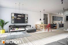 Projekty domów ARCHON+ posiadające wizualizacje wnętrz