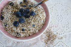 Super Skinny: Amaranth-ontbijtje. Met dit heerlijke ontbijt start je je dag zeker goed! #ontbijt #recept #skinny #healthy