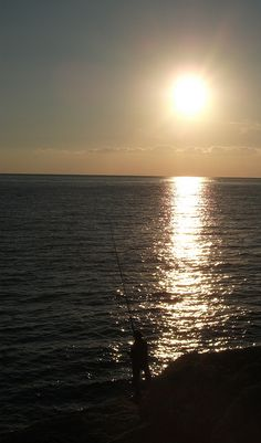 A fisherman's sunset
