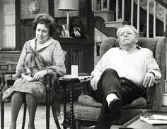 Archie Bunker with his wife, Edith Bunker