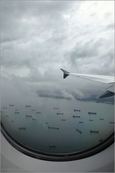 Amazing view at all the ships before touchdown at Changi Airport Singapore – Asia