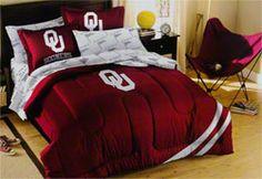 Oklahoma Sooners Full Comforter Set $147.99 http://www.fansedge.com/Oklahoma-Sooners-Full-Comforter-Set-_-274304780_PD.html?utm_content=pla=pinterest_pfid50-06644