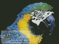 Mini Blue and Yellow Macaw Cross Stitch Pattern http://www.artecyshop.com/index.php?main_page=product_info&cPath=11_12&products_id=163