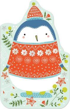 Penguin enclosure cards Madison Park Greetings x Flora Waycott
