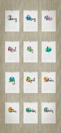 2015 Printable Calendar | by LaRanaBCN.com | TodaysCreativeBlog.net