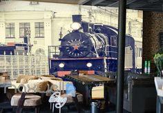 Steam Locomotive In The City Art Wall Murals Wallpaper Decals Prints Decor IDCWP-JB-000229