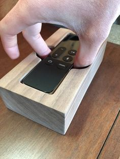 Apple TV 4 Siri Remote Holder/Cradle - Handcrafted out of Solid Hardwood (Walnut, Sapele, or Zebra Wood) - Free Expedited Shipping!