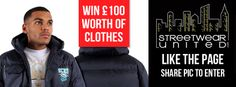 To win £100 worth of clothes from http://www.streetwearunited.com/ just Like their Facebook page https://www.facebook.com/pages/Streetwear-United/273315784440 and Share their cover photo!   Streetwear United provides wide range of great clothes for Hip-Hop community, featuring brands like Ecko Unltd, Rocawear, Dirty Money and many more! Don't forget to follow their twitter: https://twitter.com/streetwearutd