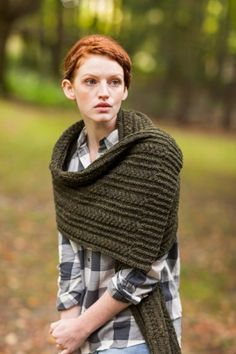 BrooklynTweed - Ceridwen Cabled Scarf & Wrap Pattern $6.50