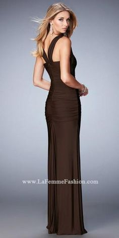Ruched Sweetheart Sheath Prom Dress By La Femme  #dress #fashion #designer #lafemme #edressme
