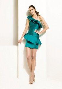 vestidos verde azulado cortos 1