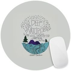 Einstein Nature Mouse Pad Decal