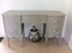 Vintage vanity/desk in ASCP French Linen