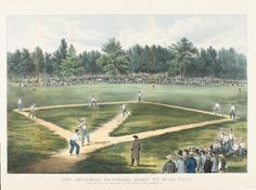 American National Game of Base Ball, 1866 #Baseball #BaseballArt #Vintage