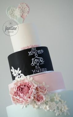 All you need is LOVE Is all you need! - Cake by Cakes by Jantine